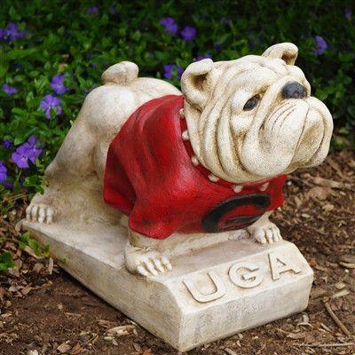 "University of Georgia UGA ""Bulldog"" College Mascot - Painted Finish"