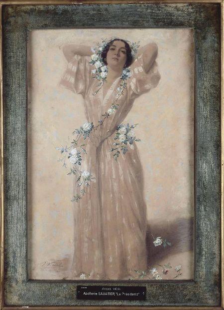 Apollonie Sabatier painted by Vincent Vidal, c. 1848?