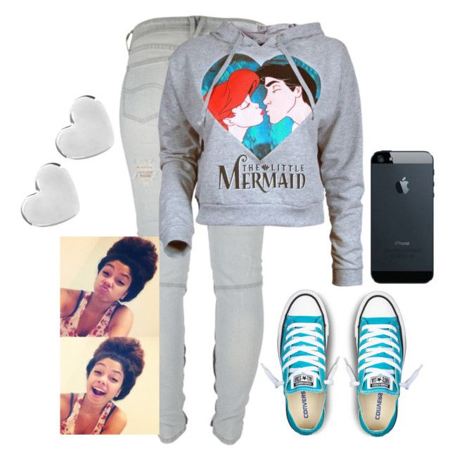 """""""The little mermaid"""" by destinylove66 ❤ liked on Polyvore featuring Converse, Lee, Disney and Dinny Hall"""