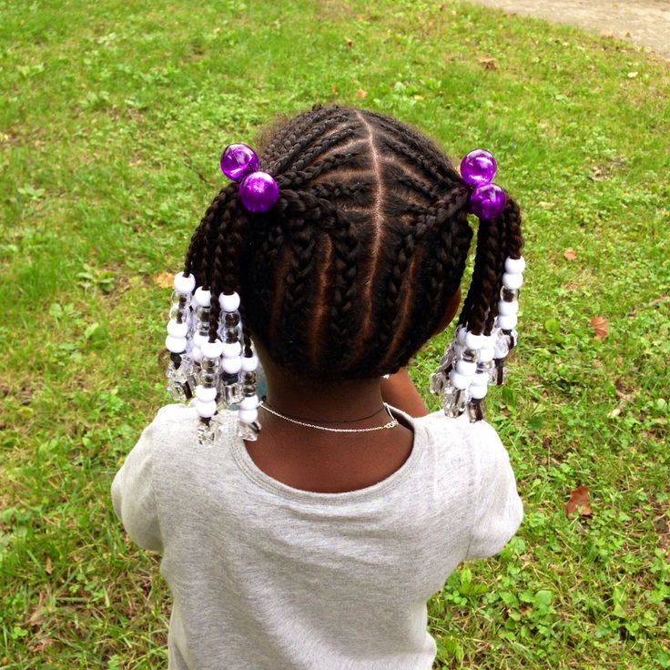Cornrows Into Pigtails Zoe S Natural Hair Pinterest