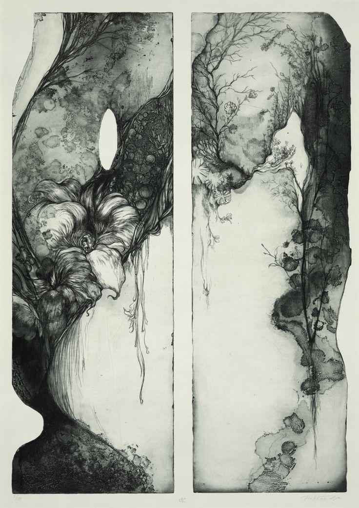 Title Blow Artist Yukie Nakano Year 2004 Process Etching/aquatint Size 90x64cm