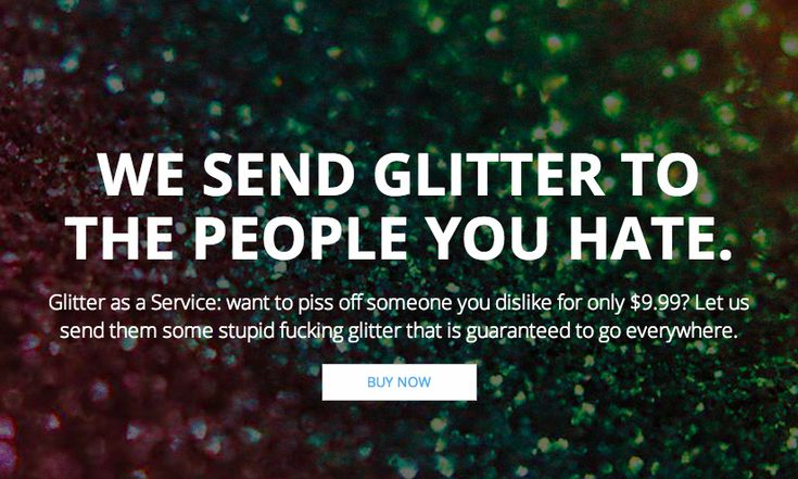 Ship glitter to your enemies with this totally real prank site Don't get mad get even!!!!