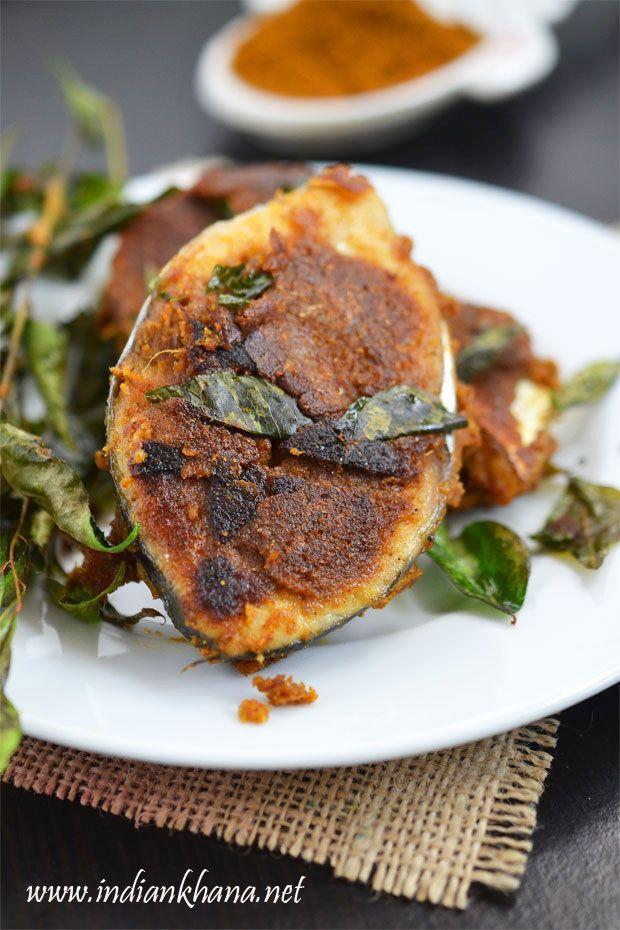 Chettinad Fish Fry or Chettinad Meen Varuval is fish fry in Chettinad style made with freshly made fish masala powder.