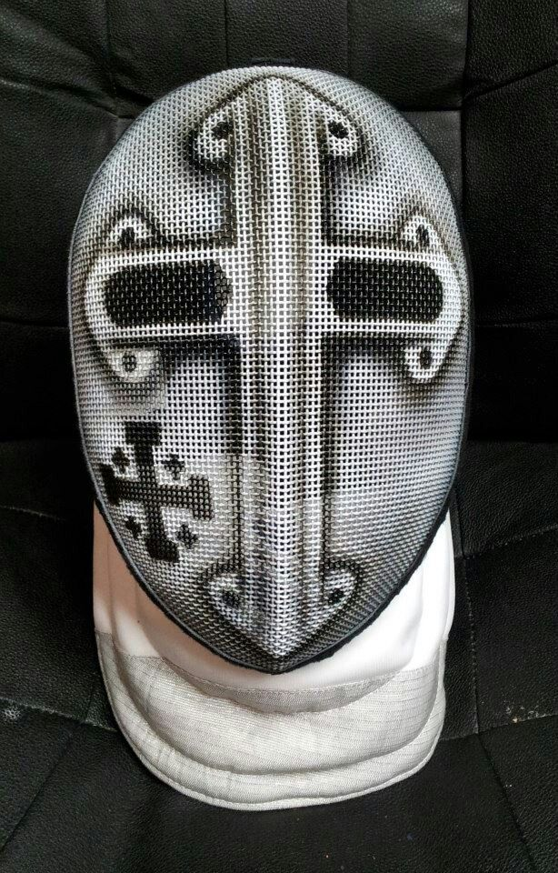 Fencing Mask I Airbrushed. Infected Art Airbrushing