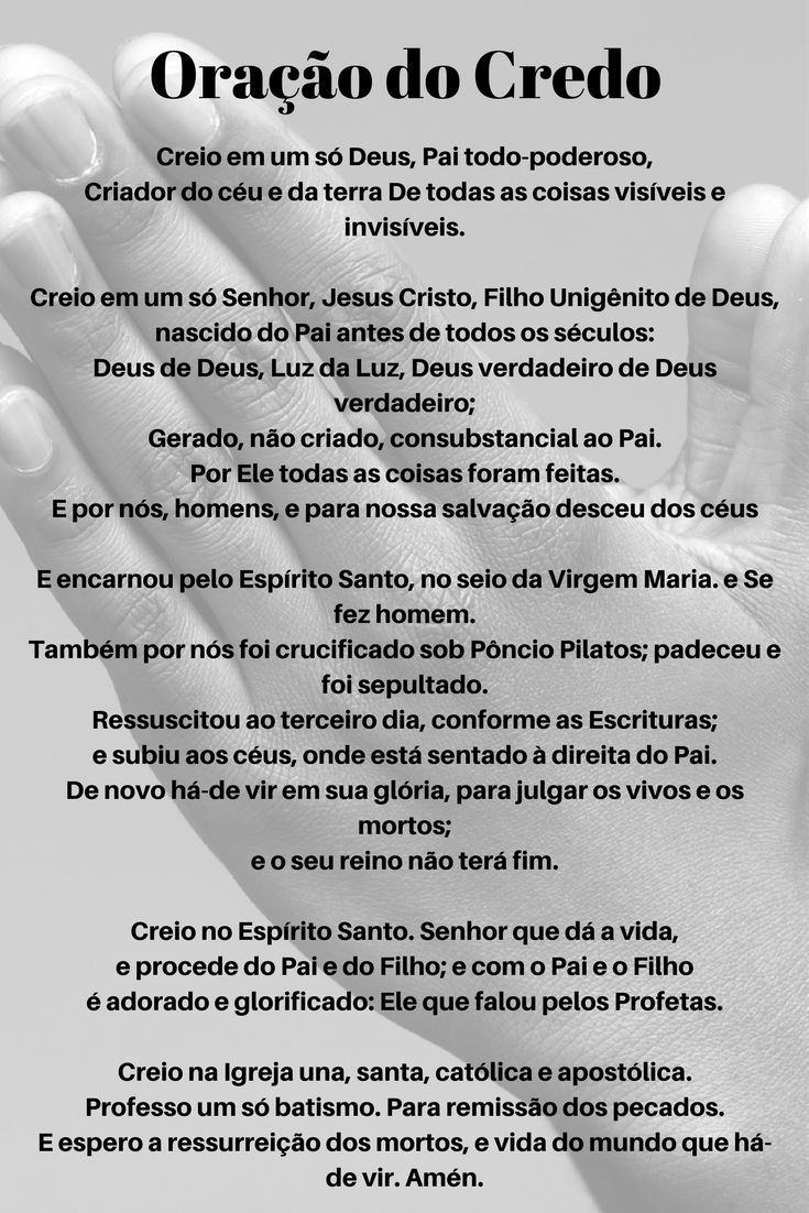 #Oração do #Credo