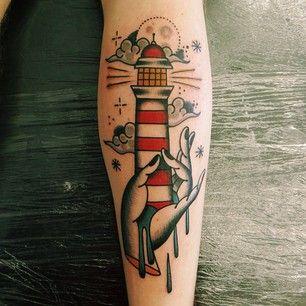lighthouse.  artist unknown.
