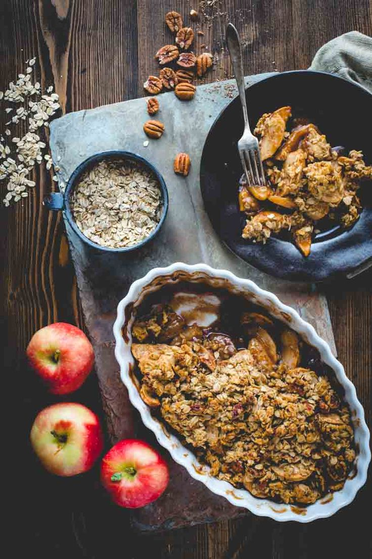 Maple Apple Crisp | Baking | Fall | Dessert | Maple | Pecans | Healthy Seasonal Recipes