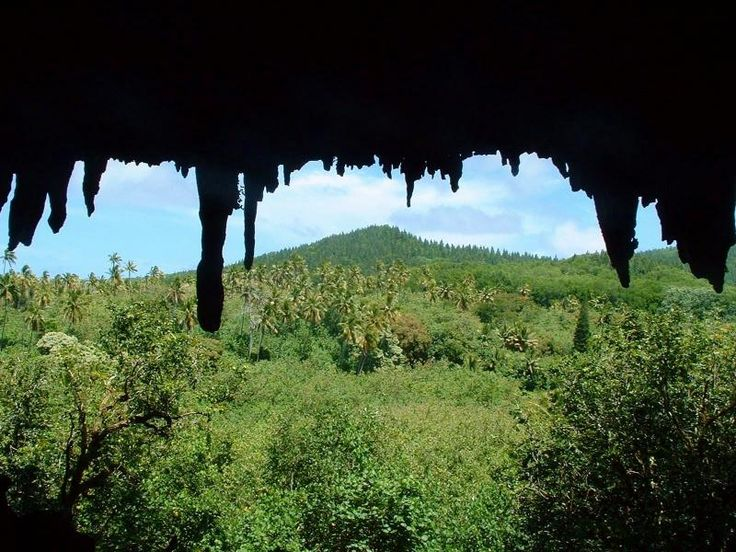 Cave in Ivirua, look out to Inland.