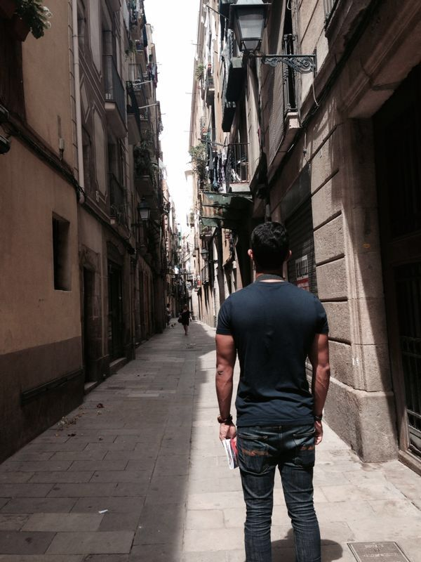 In the alleys of post gothic Barcelona