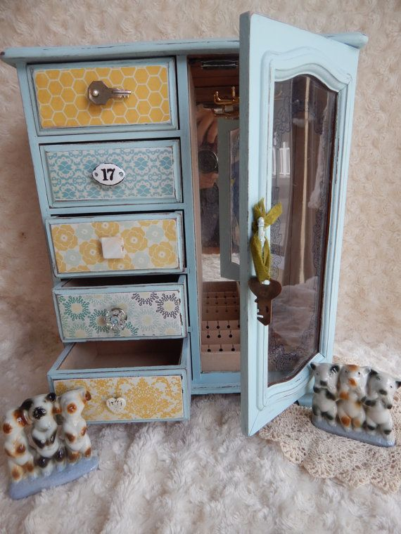 Jewelry Box Custom Jewelry Box Shabby by SunsetblondieDesigns