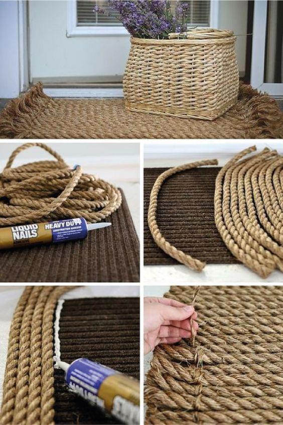 25 decoraciones para el hogar con soga o cuerda - Decoracion con reciclaje para el hogar ...