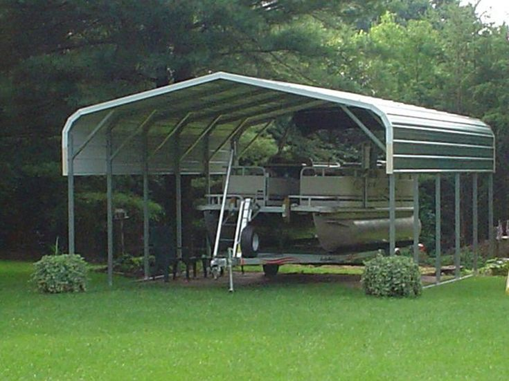 Pontoon Boat Metal Carport Awning Cover Metal Boat Covers.