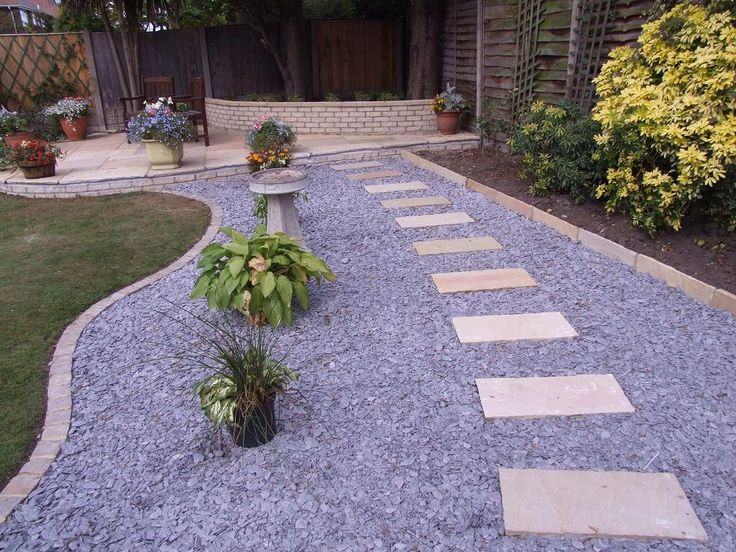 Stone Gardens Ideas 9 best customer photos slate chippings images on pinterest back pic 7 natural stone stepping ston path with decorative slate sisterspd