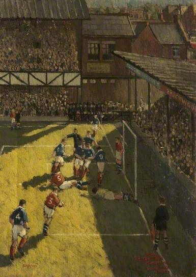 Portsmouth 1, Manchester United 1, Fratton Park, 1924