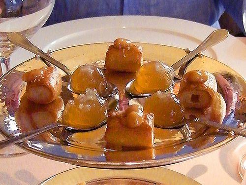 Beer Bubble, Pretzel w/ Truffle Cream at Cyrus Restaurant, Healdsburg