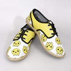 Oxford Funny Skully Ayakkabı  - #tasarim #tarz #sarı #rengi #moda #hediye #ozel #nishmoda #yellow #colored #design #designer #fashion #trend #gift