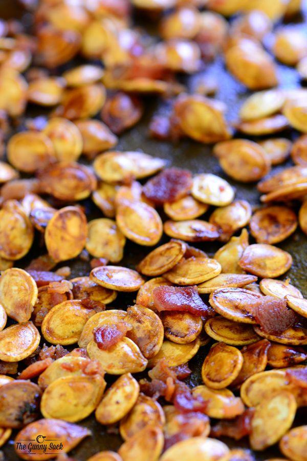 Bacon Roasted Pumpkin Seeds | Bacon Day | Pinterest ...