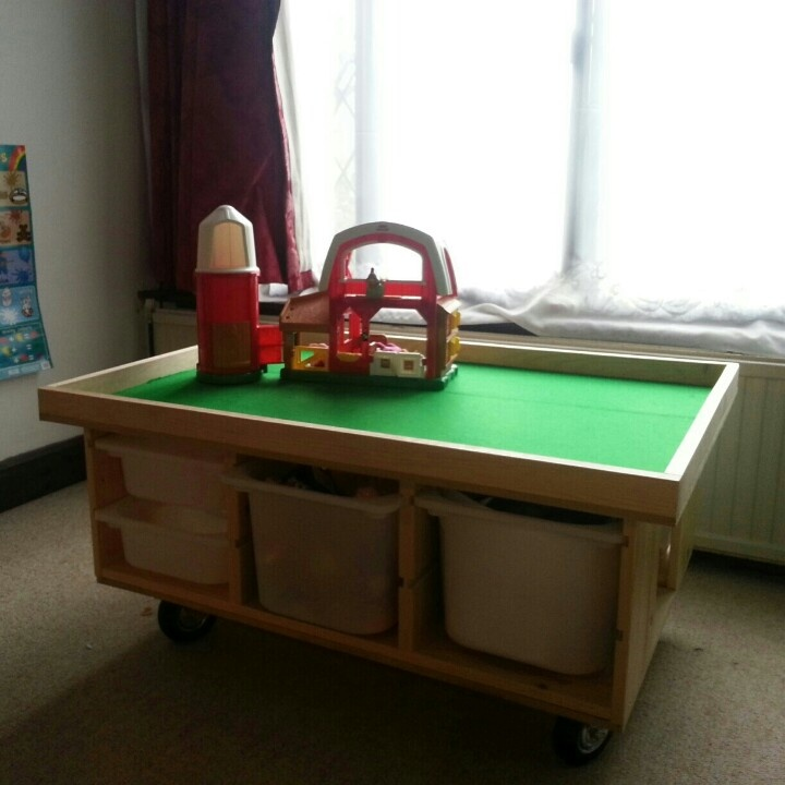 Play table with storage Carolines big girl room Pinterest