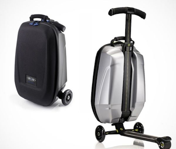 Clever 'Kick Scooter Luggage' Makes Traveling A Breeze