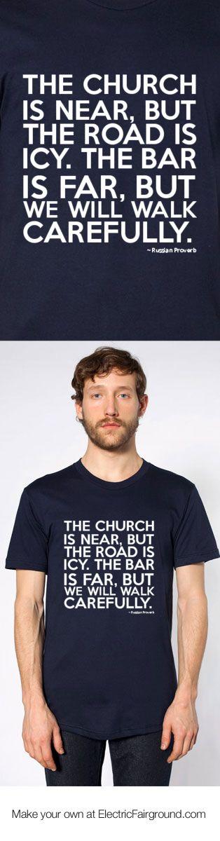 Russian Proverb Short Sleeve T-Shirt