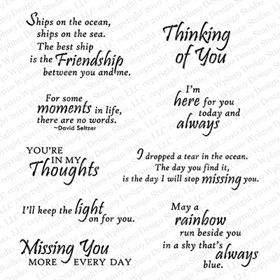 Thinking of you sentiments