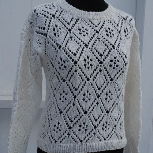 Pattern number 15. Knitted lace sweater and scarf