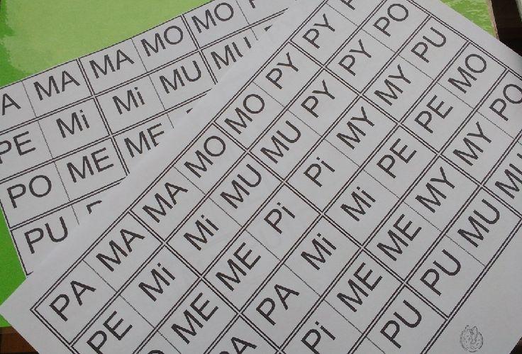 Różnicujemy PA - MA! Domino sylabowe | Logotorpeda