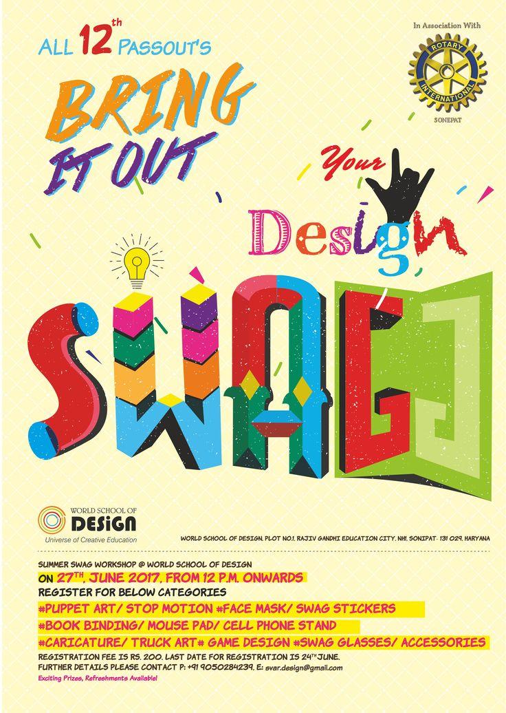 Summer Swag Workshops – Bring Out Your Design Swag