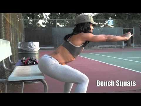 Effective Butt Workout! Natural fitness athlete workout! Stephanie Person