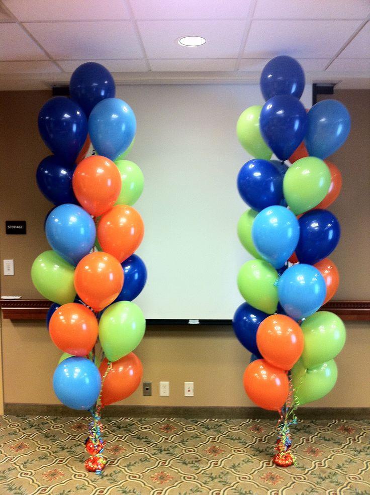 Balloon bouquets event ideas pinterest for Balloon arrangement ideas