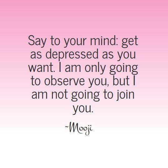 The wisdom of Mooji - Observing