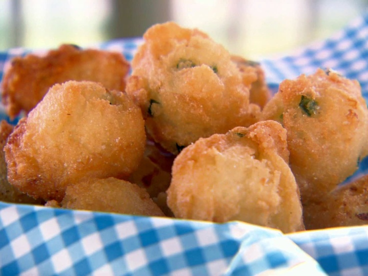 Mama's Cornmeal Hushpuppies from FoodNetwork.com--WITHOUT THE JALAPENOS FOR ME---D!
