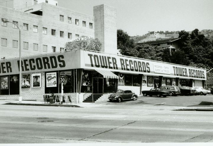 Tower Records On the Sunset Strip    I went there several times before it closed.  Sooooo SAD!