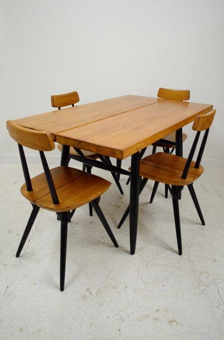 Ilmari Tapiovaara 'Pirkka' dining table and chairs