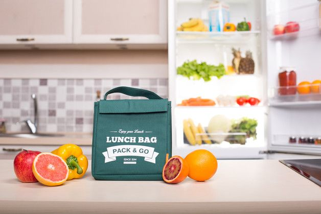 Lunch Bags – LUNCH BOX UNISEX M – a unique product by MyFactoryHub on DaWanda