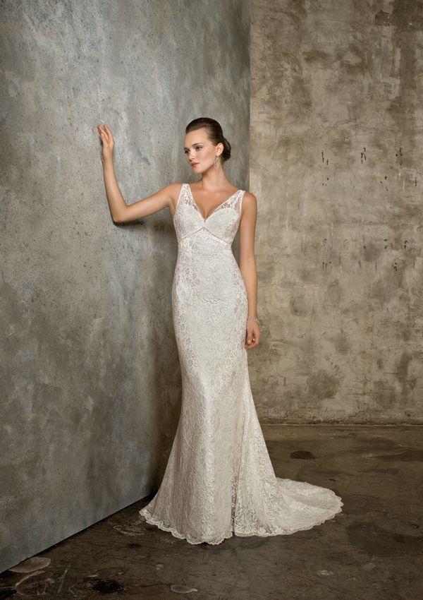 Mori Lee Blu Style 4613 Romantic Lace With Beading Wedding Dress