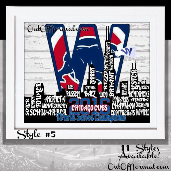 WORLD SERIES CHAMPIONS Chicago Cubs 2016 World by OutOfNormal