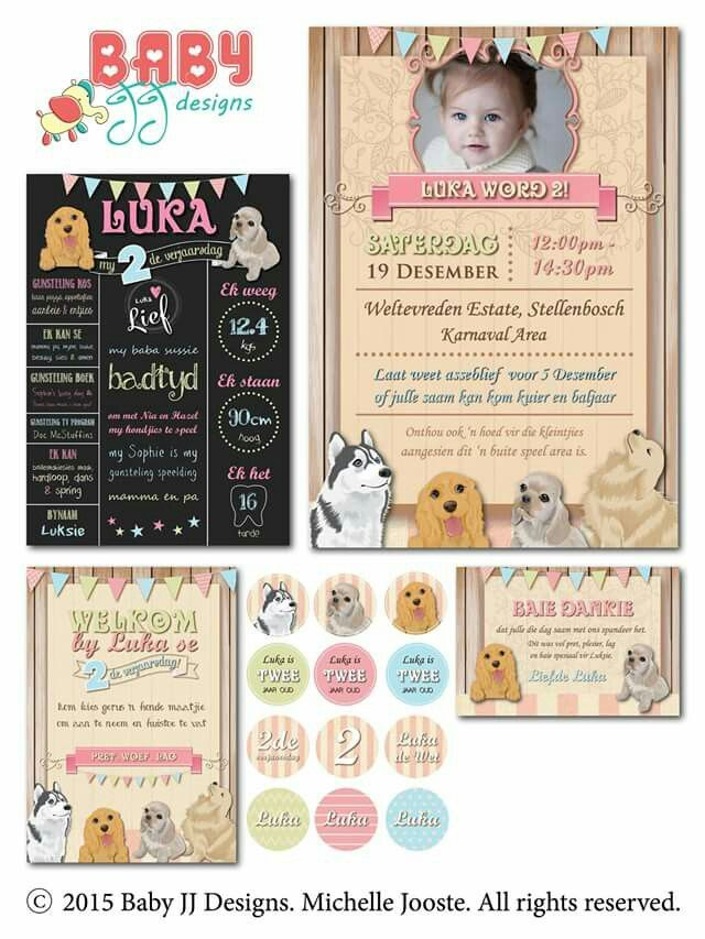 Vintage Dogs Birthday Design Package by Baby JJ Designs https://facebook.com/babyjjdesigns