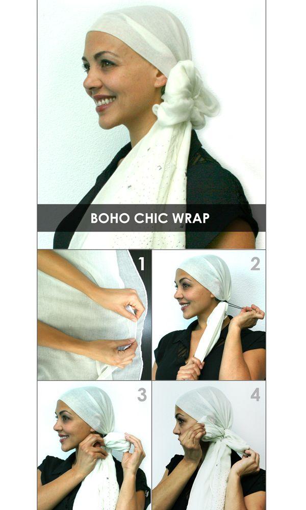 How to Tie a Headscarf - Boho Chic Wrap