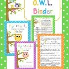These are Owl binder covers for boys and girls with explanation and binder rules. E-mail me to send you the Parent Explanation editable.  This down...
