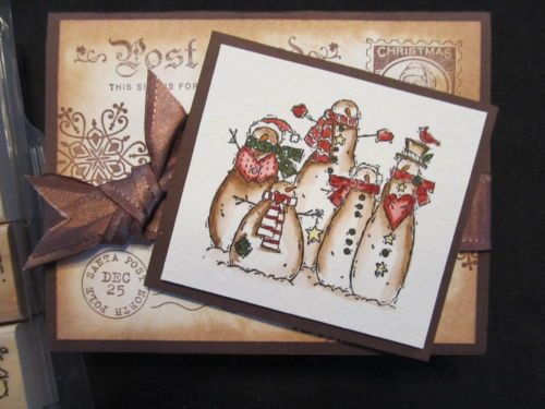 Stampin Up Flaky Friends Snowmen Mittens Christmas Tree Snowflakes