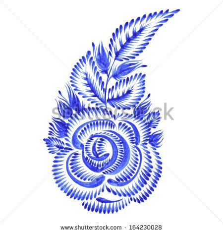 hand drawn illustration in Ukrainian folk style - stock vector