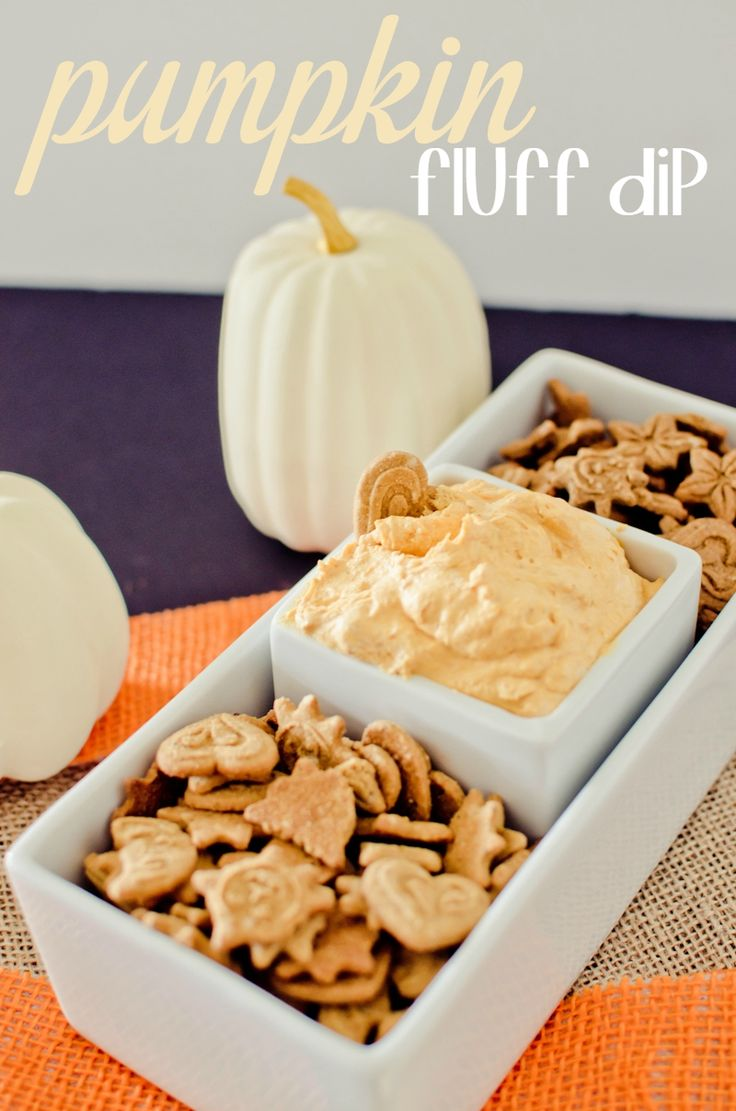 Make this Pumpkin Fluff Dip for your next fall or Halloween party!