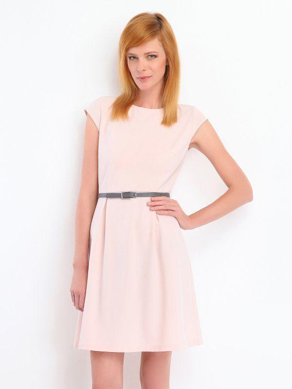 Sukienka damska różowa  - SSU1126 sukienka - TOP SECRET - Odzieżowy sklep internetowy TOP SECRET