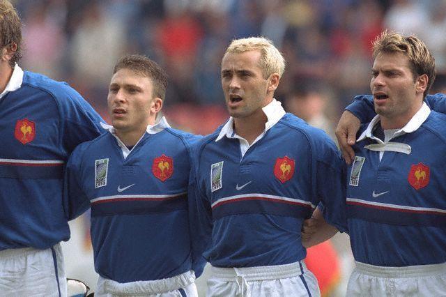 Pierre Mignoni, Thomas Castaignède et Christophe Dominici 1999