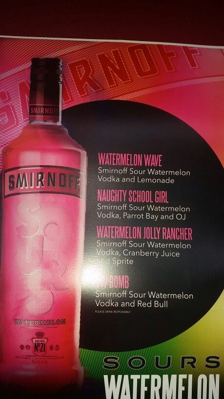 Sour watermelon  smirnoff