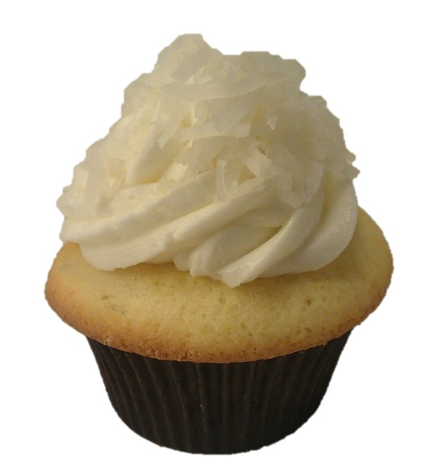 Coconut Snowball cupcake shown with Coconut Buttercream frosting ...