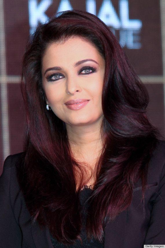 Cool black cherry hair color. Aishwarya Rai, L'Oreal Paris ambassador - dark red