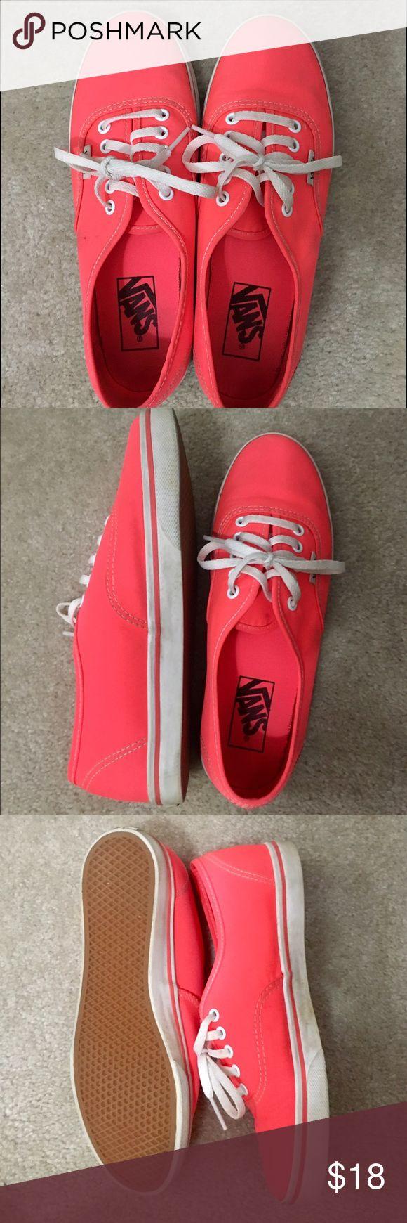 coral vans washable, worn once Vans Shoes Sneakers