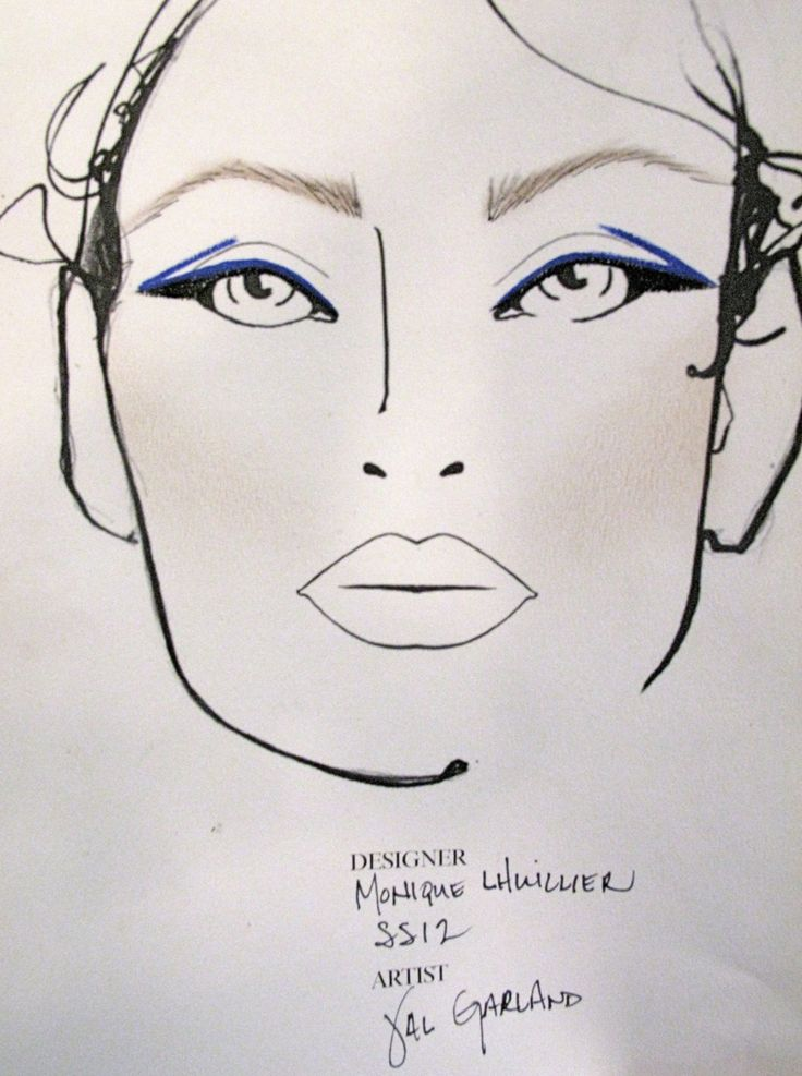 Makeup Drawing: 45 Best Makeup Sketches Images On Pinterest